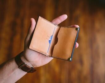 Sunburst Bi-fold Wallet; leather bifold; Card wallet
