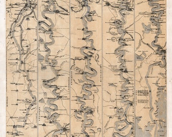 1861 Map of the Mississippi River