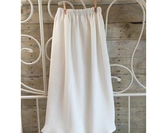 Summer Breeze Maxi Skirt Handmade Flowy Soft White Handmade Skirt