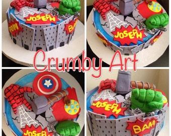 Avengers Cake topper