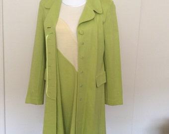 set, vintage dress and jacket 80 years, handmade