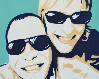 "Custom Pop Art Paintings 28x28""- pop art canvas- create a pop art painting from a photo"