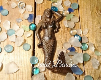 Cast Iron Mermaid Hook Beach Ocean Seaside Cabana Decor Coat  Towel Hook