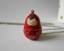Matryoshka. Necklace.