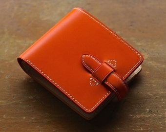 The best Veg Tanned Leather from Italy -orange 12