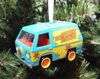 "Miniature Scooby Doo Mystery Machine Christmas Ornament """"Ruh Roh"""" Free Shipping Happy Holidays"