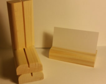 50 Wooden Place Card Holders