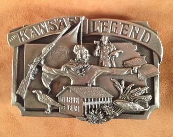 Kansas Legend belt buckle