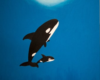 Orcas Oil Painting