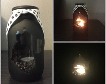 Siberian Husky,  Head #2,  Mason Jar, Tea Light, candle Holder, Husky
