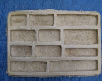 1 Ledgestone latex rubber mold...Diy make this stone for .35.cts sqft