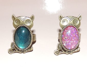 OWL cabochon ring