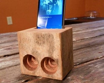 Reclaimed Rustic iPhone Android Passive Speaker