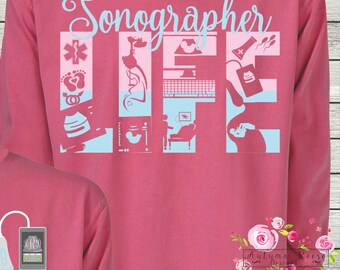 Ultrasound etsy monogrammed sonographer ultrasound technician life great gift idea negle Images