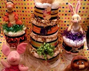 Hundred Acre Wood Diaper Cake Set