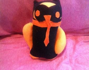 Handmade sock owl