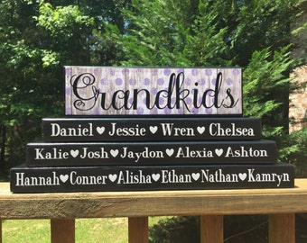 Personalized Grandkids blocks