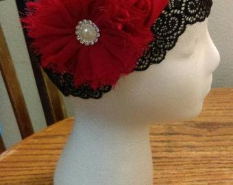 Lace black cap