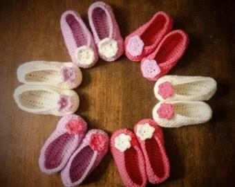 Baby Slippers for Girl babbucce Bimba Little shoes Scarpine in wool