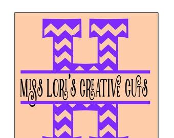 Split letter CHEVRON  Letter monogram  H  SVG Cut file  Cricut explore filescrapbook vinyl decal wood sign t shirt cricut cameo