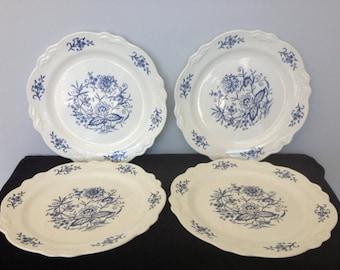 Set of 4 Homer Laughlin Co. Dresden Dinner Plates