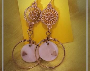 Vintage circular earrings