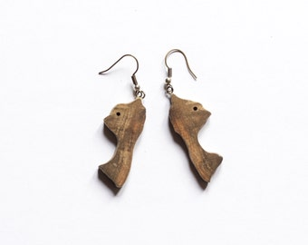 Modern Earrings/ Driftwood Earrings / Wood Earrings / Dangle Earrings / Hipster Jewelry / Natural Wooden Earrings / Stylish Earrings