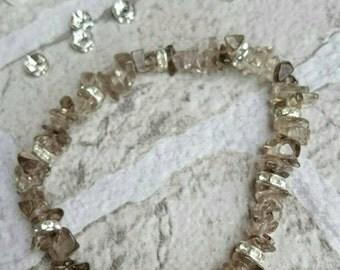 SUMMER SALE**Smoky quartz crystal healing bracelet, smoky quartz crystal bracelet, smoky quartz bracelet, crystal chip bracelet,