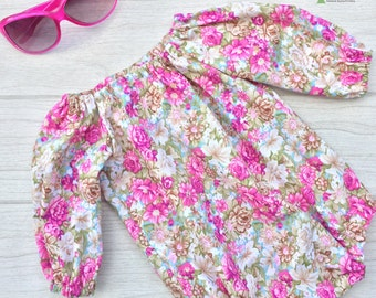 CLEARANCE: Floral Seaside Playsuit