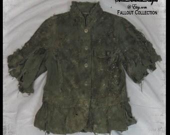 Post Apocalyptic GIRLS COAT Fallout Child's Coat Zombie Child Costume Tattered Apocalypse Coat Wasteland Clothing by WastelandWearable