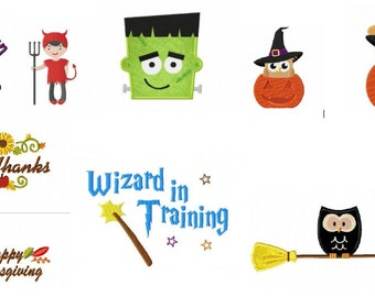 Halloween and Fall Embroidery Designs PES