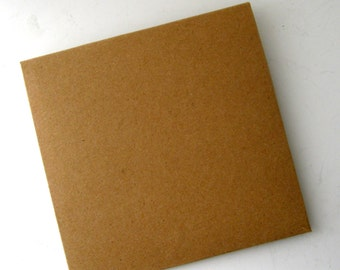8 CD/DVD Envelopes Plain Kraft Disk Covers Card Photo disk presentation Event DVD gifting Photographer square envelope Wedding