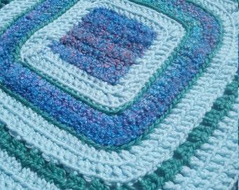 Happy Green! Hand Crochet Blanket/afghan baby/toddler