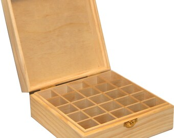 Essential Oil Box- Popular Carrying Case Makes a Great Gift. Reconfigure and Customize for Storage of Any Size Bottle