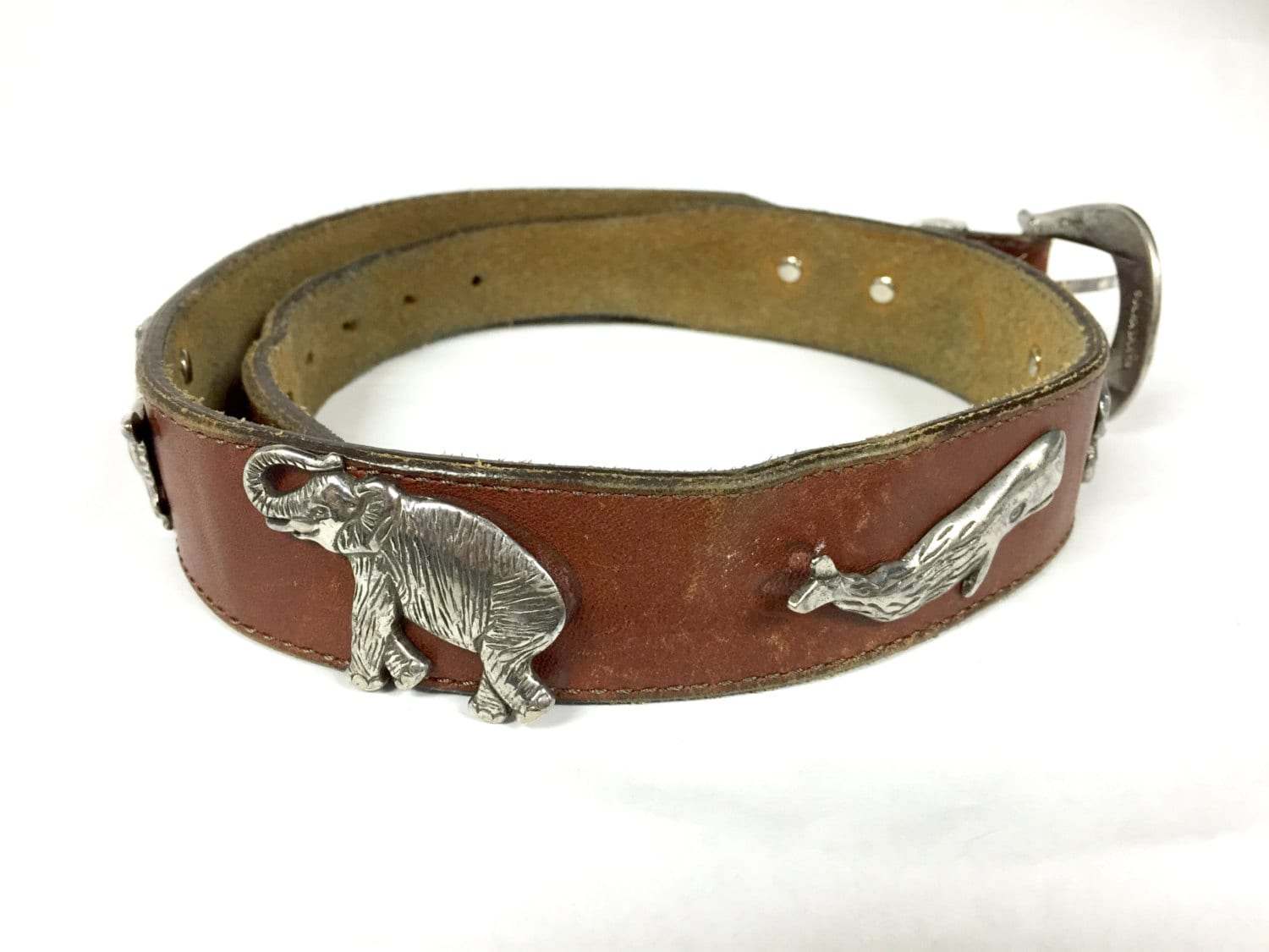 brighton honest belt brown leather with 8 solid brass