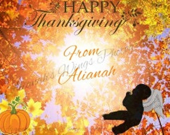 Happy Thanksgiving From Heaven Card