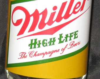 Vintage Miller High Life The Champagne Of Beers Glass Tumbler