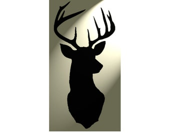Shabby Chic wall Stencil Stag Deer Head Rustic Mylar Vintage style A4 297x210mm