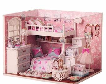 DIY Angel Dream Kits  Wood Dollhouse miniature Furniture room