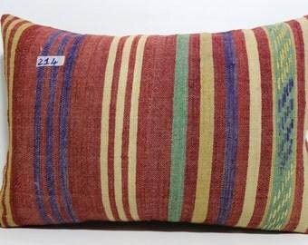 Striped Pillow,Kilim Pillow Cover Lumbar Pillow 16X24 lumbar kilim pillow  stripe pillow kilim cushion cover bed pillow SP4060-214