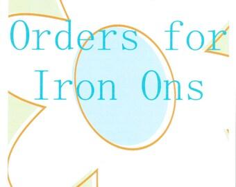 Custom Made Iron On
