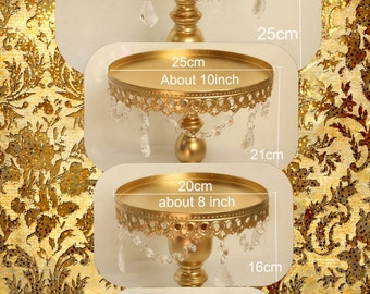 Cake stands gold 3 piece cake stands set 3 stackable pieces set free shipping