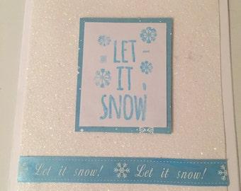 Handmade 'Let It Snow' Card