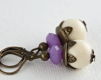 Vintage cream earrings