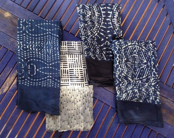 Batik scarf in Natural Indigo handmade made