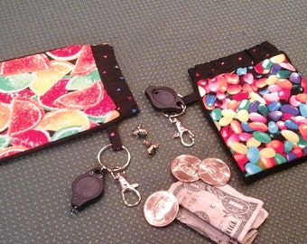 Set of 2 Candy Print Flex Frame Ditty Bags