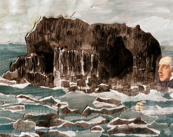 Fingal's Cave collage- print