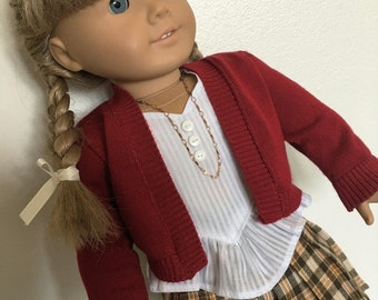 Frilly outfit fits American girl dolls