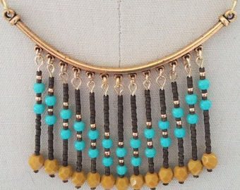 Gold Chevron Necklace