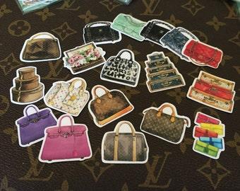 Fashion Handbag Stickers- Set of 20